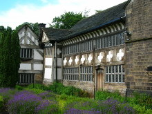 Bolton, The 14th-century Smithills Hall is now a museum, Lancashire © John Darch